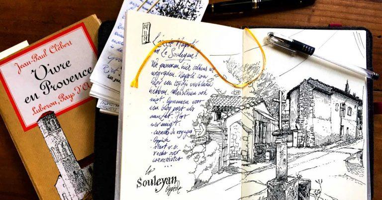 Souleyan sketch near Oppède
